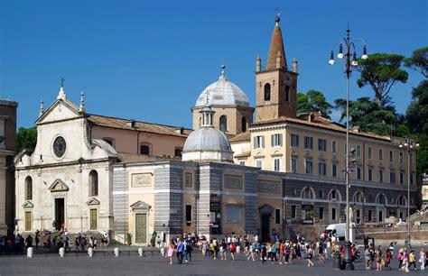 a roma the basilica of santa popolo in rome