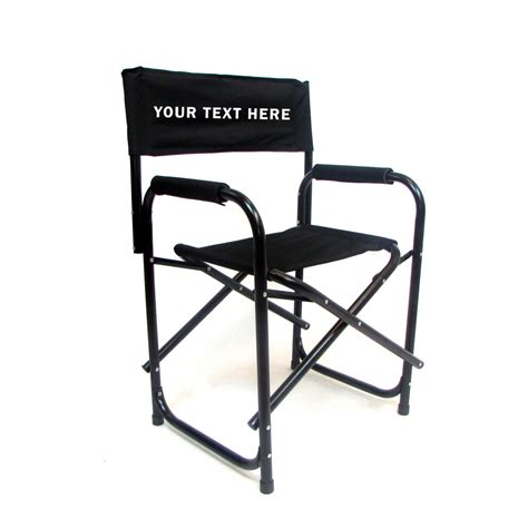 directors chair aluminium imprinted all aluminum 18 inch directors chair custom