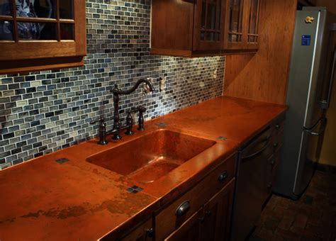 copper bar top cost concrete kitchen countertops best home decoration world