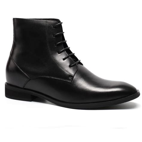 elevator boots dress shoes with lifts lace up ankle