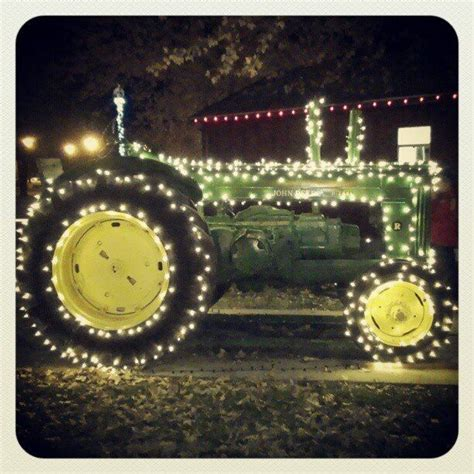 tractor with christmas lights lil bit a country pinterest