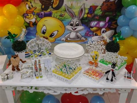 Looney Tunes Nursery Decor Decoracao Mesa Baby Looney Tunes Mesa Dos Looney Tunes Jpg Car Interior Design
