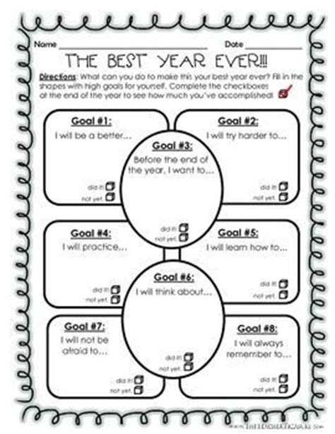 new year lesson plan middle school 25 best ideas about goal setting activities on