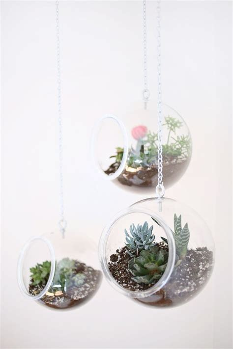 hanging planters diy diy fishbowl hanging planter diy pinterest