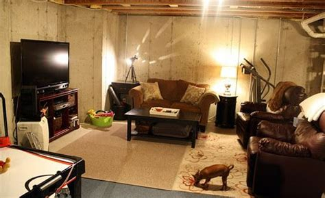 how to decorate basement 17 best ideas about unfinished basement decorating on