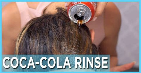 coke rinse hair coke rinse dark brown hairs