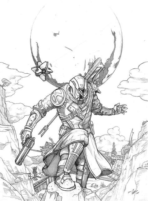 Destiny 2 Sketches by Destiny Warlock And Ghost Fan Destiny