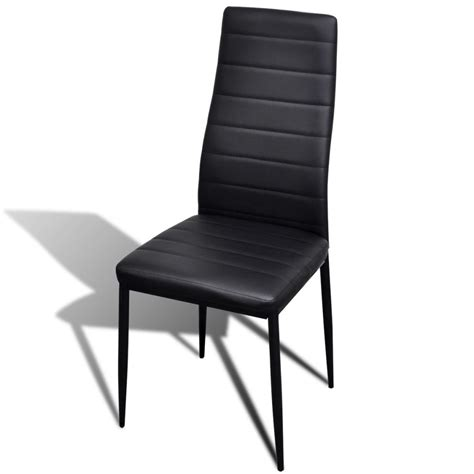 Dining Chairs 4 4 Pcs Black Slim Line Dining Chair Vidaxl Au
