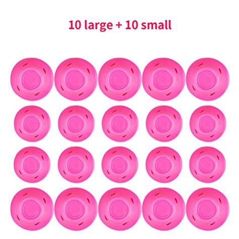 Professional Hair Style Tools by 187 Habibee 20 Packs Pink Magic Hair Curlers Rollers No Clip