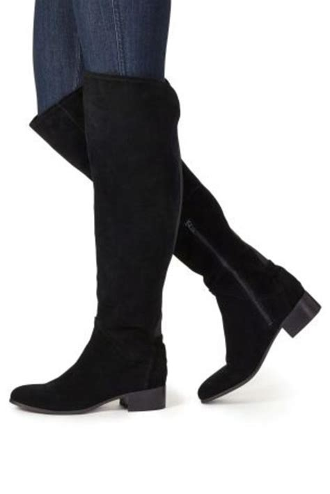 microsuede thigh boots endource