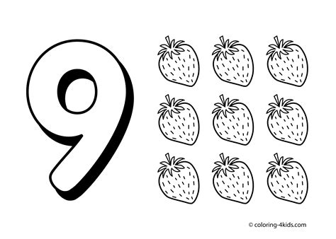Number 9 Coloring Pages number 9 coloring pages only coloring pages