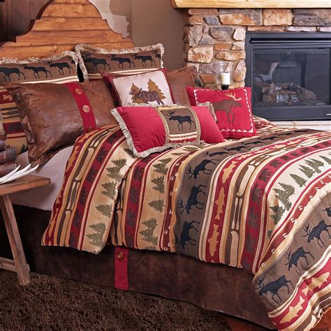 moose comforter set moose creek bedding collection cabin place