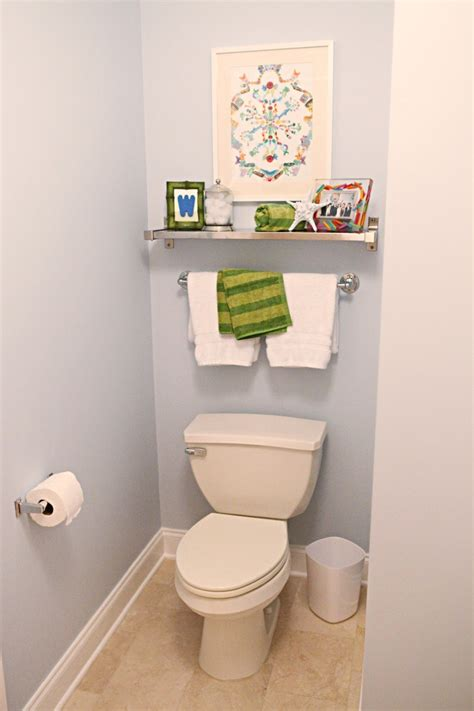 Add Shelf Towel Rack Above Toilet In Both Bathrooms For Bathroom Shelves Above Toilet