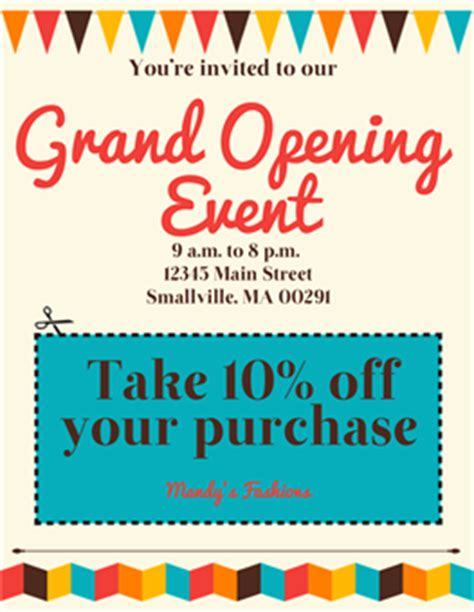 grand opening event flyer signazon