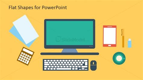 flat computer icons for powerpoint slidemodel