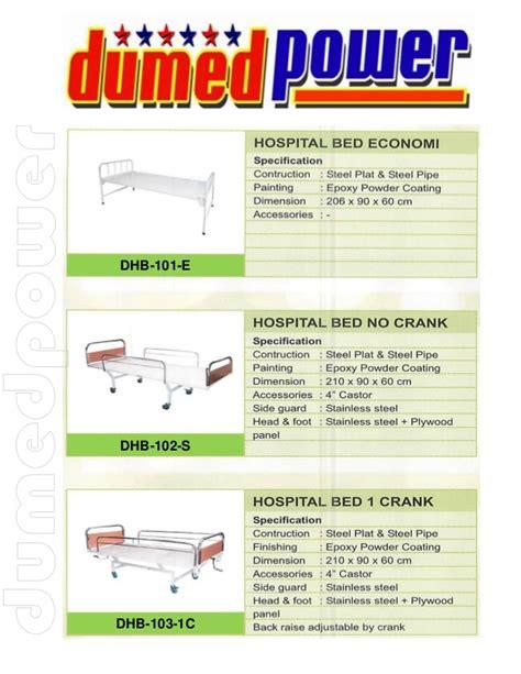 Ranjang Tidur Rumah Sakit brosur ranjang tempat tidur pasien rumah sakit