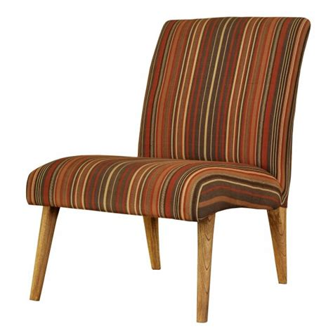 Brown Striped Armchair Buy Den Scandinavian Retro Brown Striped Chair