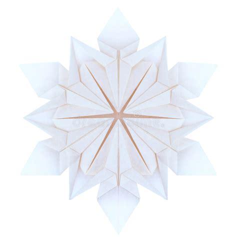 Origami Snowflake Pattern - origami snowflakes stock illustration image of white
