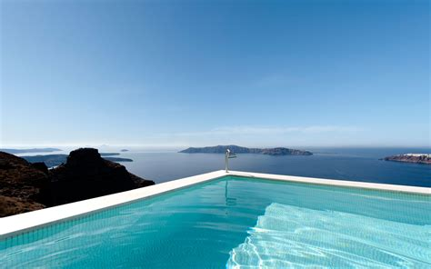 Combination Of Blue by Santorini Hotels Andromeda Villas Luxury Hotel In