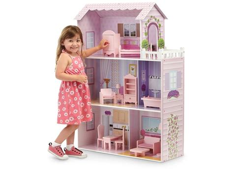 girl house 2 fancy mansion dollhouse w furniture kids toys