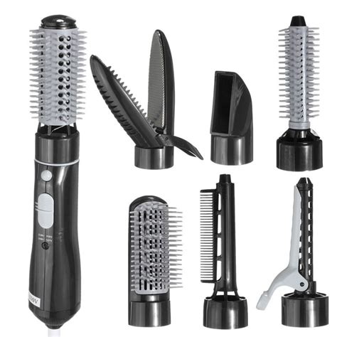 Hair Dryer And Curler 7 in 1 electric hair dryer curler straighter hairstyling set iron curling modelling comb