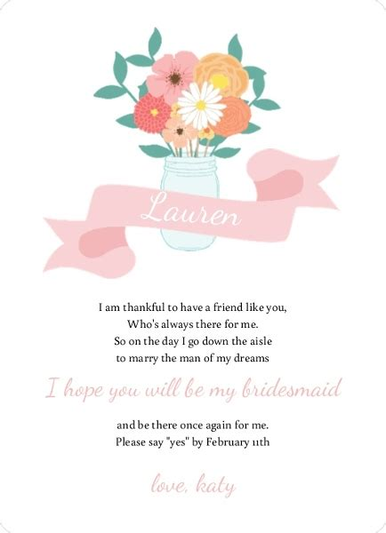 Will You Be My Bridesmaid Ideas Will You Be My Bridesmaid Wording Will You Be My Bridesmaid Letter Template