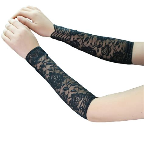 tattoo arm protector 1pair women summer lace uv tattoo scar arm sleeves cover