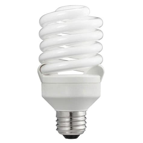 Lu Philips Spiral 24 Watt philips 100w equivalent soft white t2 spiral cfl light bulb 24 pack 434738 the home depot