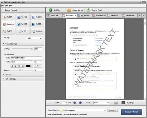 avsyou avs document converter adding watermark