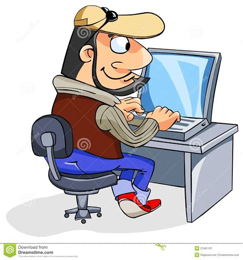 Armchair Computer Table Happy Man Using A Laptop Stock Vector Image Of Casual