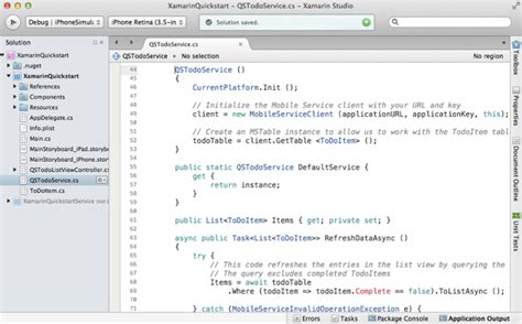 xamarin tutorial iphone get started with mobile apps in xamarin ios