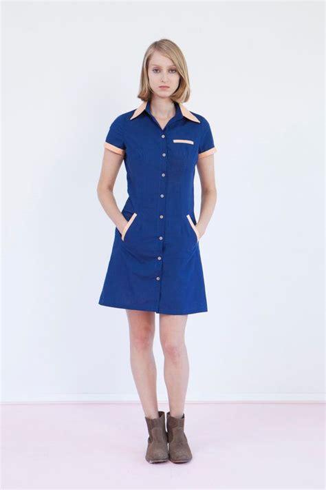 blue waitress final sale get 30 off waitress uniform retro dress