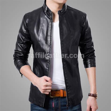 jaket kulit slimfit pria 187 ls 026 www raffileather jual jaket kulit asli garut murah