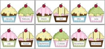 cupcake birthday chart template 22 best images about bulletin boards birthday chart on
