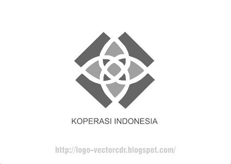 logo koperasi terbaru hitam putih vector format cdr