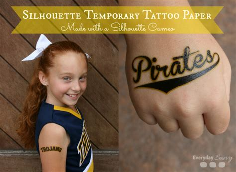 silhouette temporary tattoo paper how to diy fun temporary tattoos made with a silhouette cameo