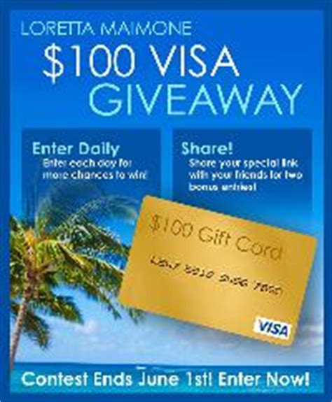 Win A 100 Visa Gift Card - contest win a 100 visa gift card