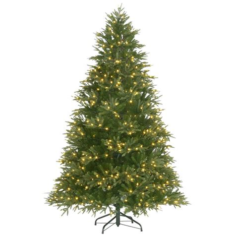 majestic noelpine artificial christmas tree 7 5 ft pre lit majestic fir artificial tree with color changing lights rw75146 ipho