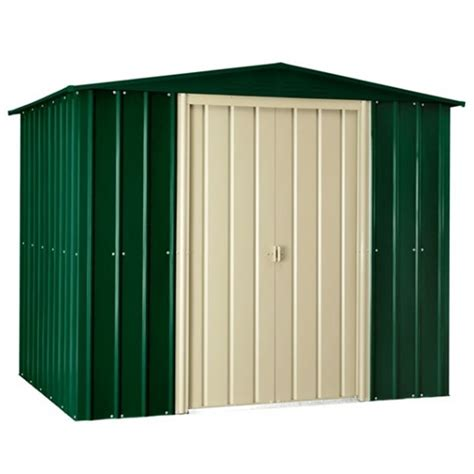 Metal Shed 10 X 6 by 10 X 6 Heritage Green Metal Shed