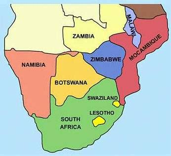 south africa map countries southern africa map pictures