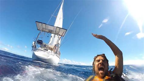 sailing boat movie sailing sv delos man overboard drill youtube