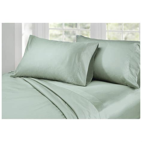 bed sheets material and thread count 4 pc 1 000 thread count pima cotton sheet set 299845 sheets at sportsman s guide