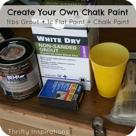 chalk paint recipe crafts