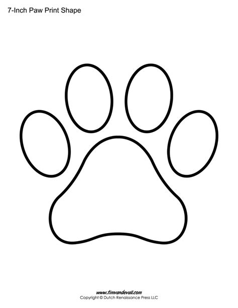 printable animal paw print stencils dog breeds picture