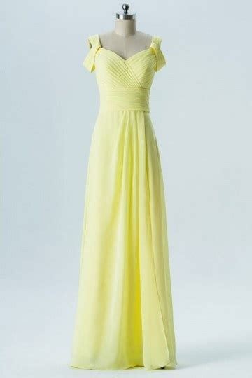 Robe Jaune Temoin Mariage - robe jaune simple t 233 moin mariage longue 233 paule d 233 nud 233 e