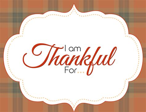 i am thankful for printable thanksgiving template