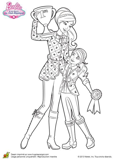 barbie stacie coloring pages coloriage bravo barbie et stacie sur hugolescargot com