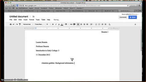 mla format template docs docs mla template shatterlion info