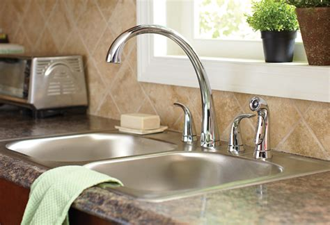 how to upgrade and install your kitchen faucet how to install a two handle kitchen faucet at the home depot