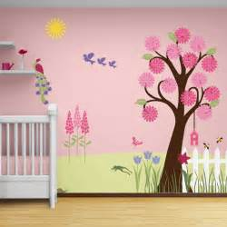 Girls Wall Mural Flower Garden Wall Mural Stencil Kit Baby Or By Mywallstencils